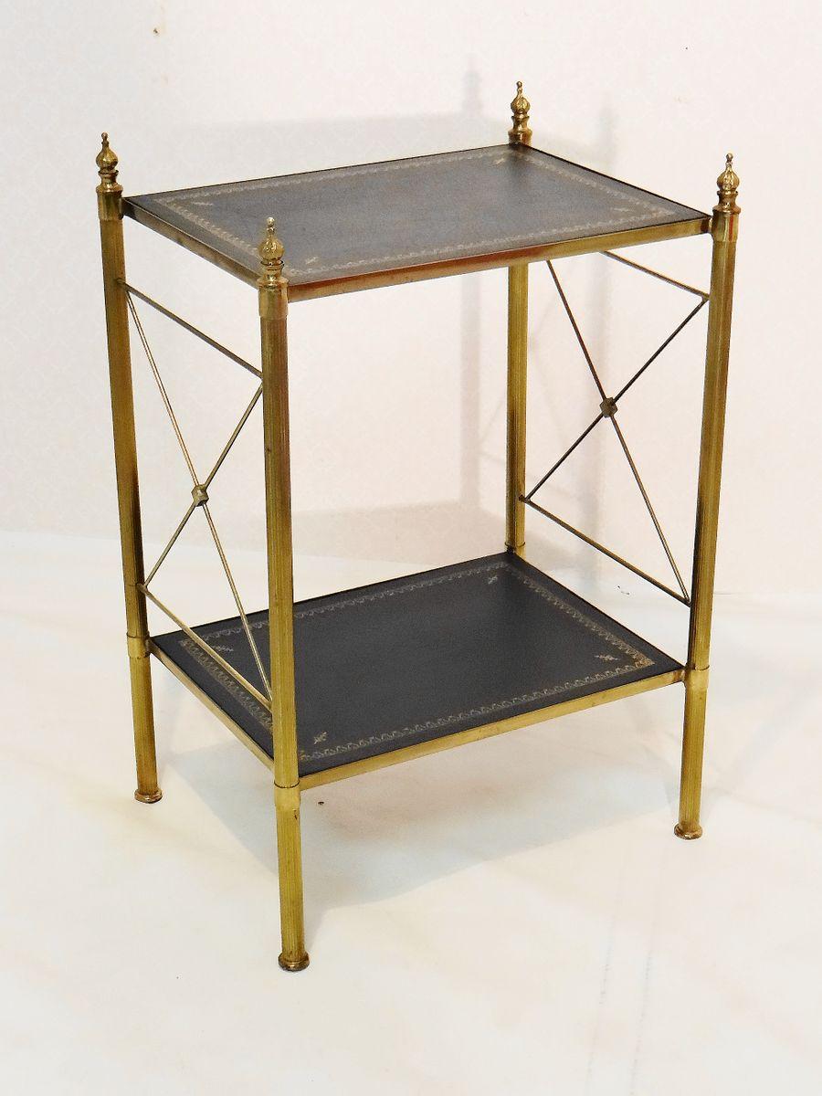 vintage bronze messing beistelltisch von maison jansen. Black Bedroom Furniture Sets. Home Design Ideas