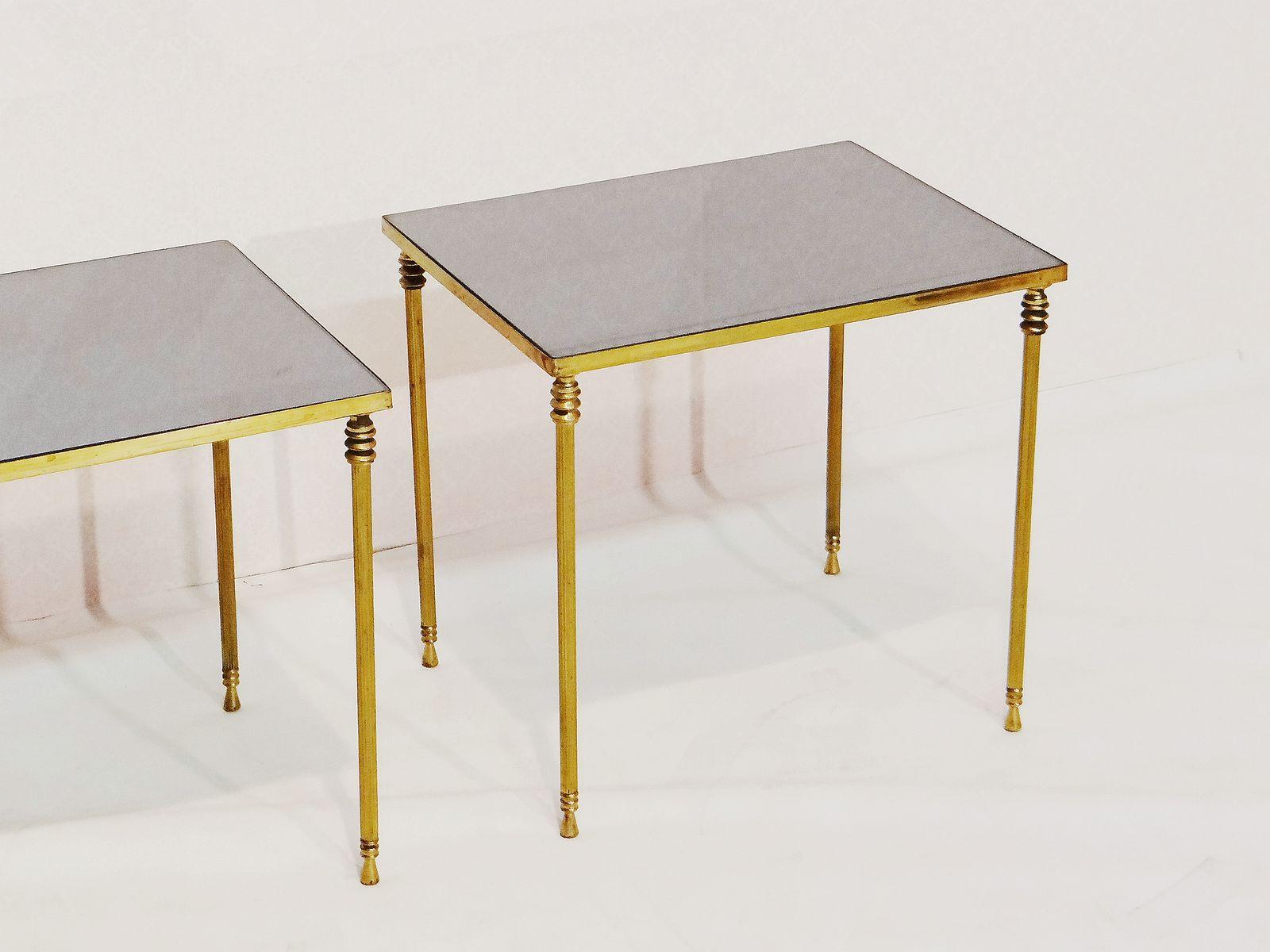tables d 39 appoint vintage par maison jansen set de 2 en. Black Bedroom Furniture Sets. Home Design Ideas