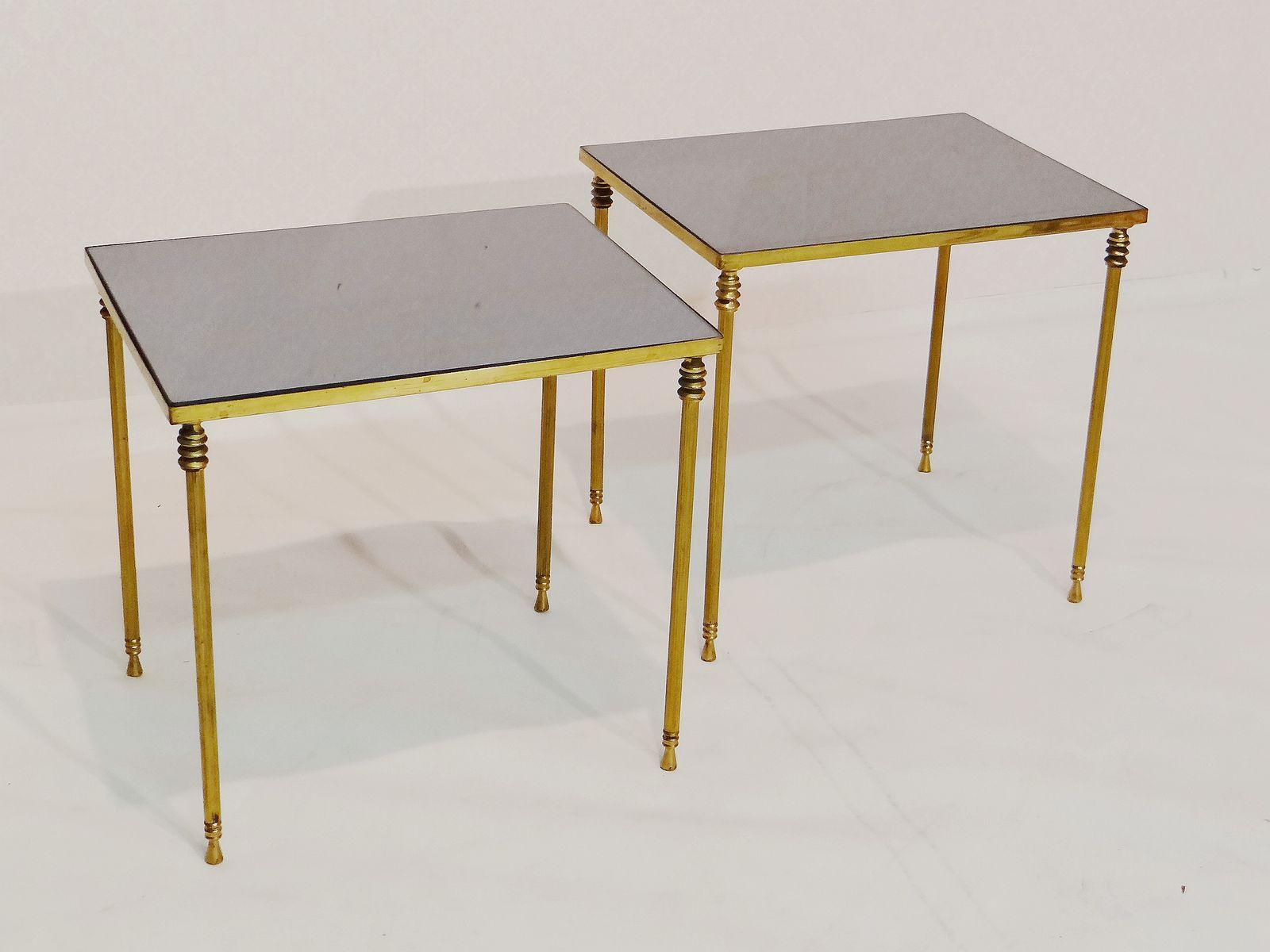 tables d 39 appoint vintage par maison jansen set de 2 en vente sur pamono. Black Bedroom Furniture Sets. Home Design Ideas