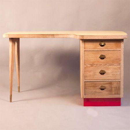 oak desk 1950s for sale at pamono. Black Bedroom Furniture Sets. Home Design Ideas