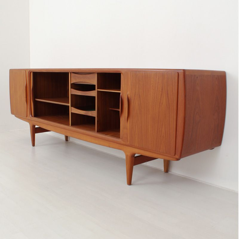 d nisches teak sideboard bei pamono kaufen. Black Bedroom Furniture Sets. Home Design Ideas