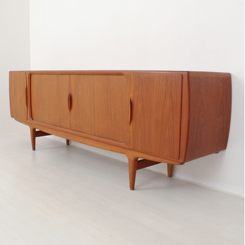 Danish teak sideboard for sale at pamono for Sideboard 240 cm