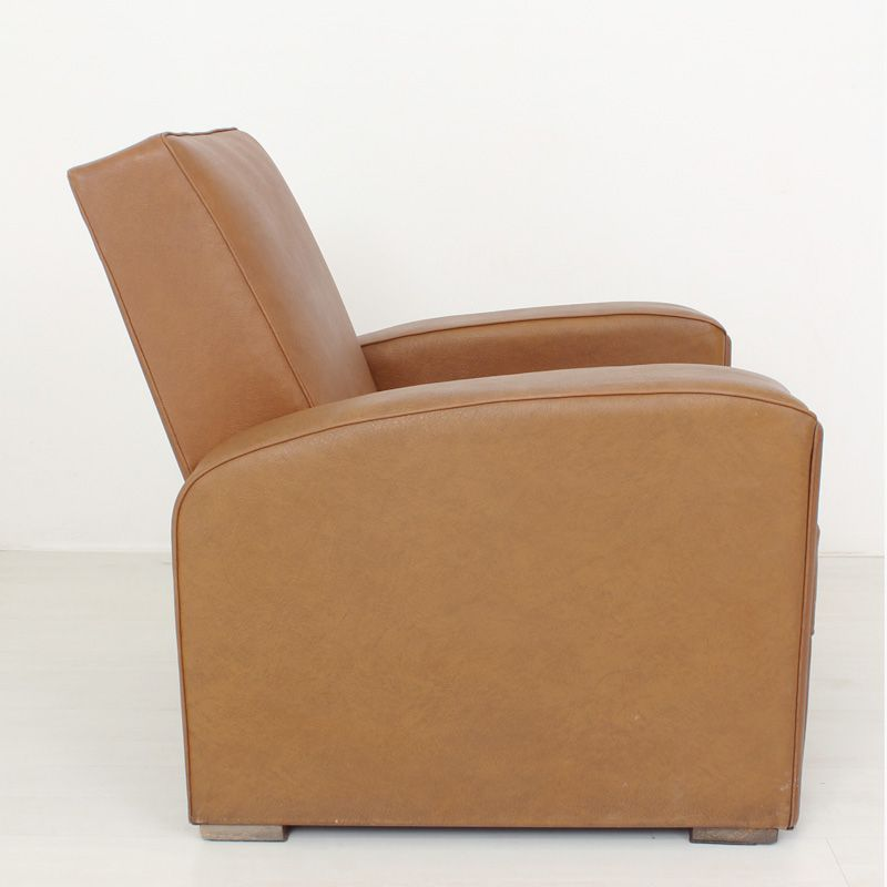 Art deco club lounge chair for sale at pamono - Club deco ...