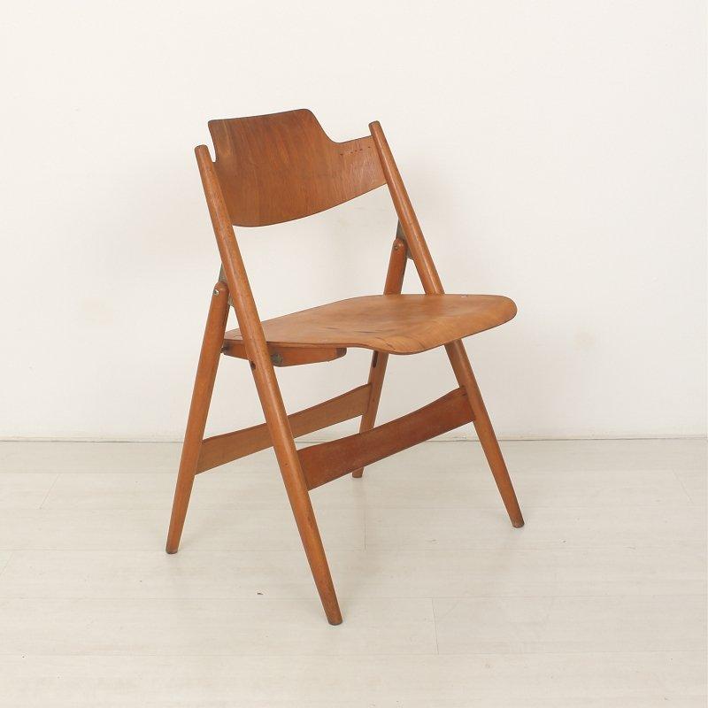 se18 klappbarer stuhl von egon eiermann f r wilde spieth bei pamono kaufen. Black Bedroom Furniture Sets. Home Design Ideas