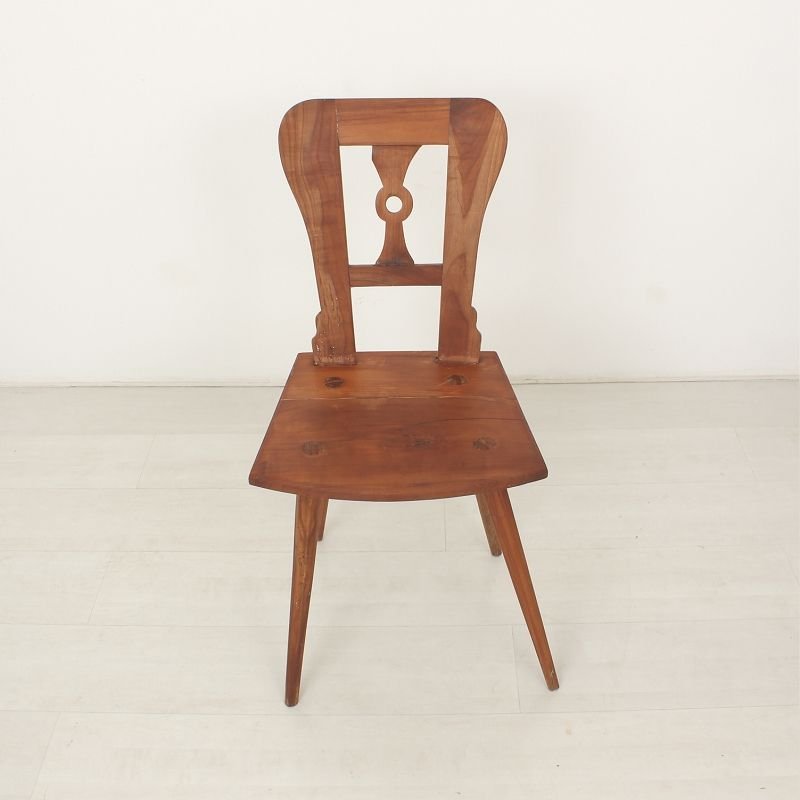 Antique Cherry Wood Dining Chair 1850s For Sale At Pamono