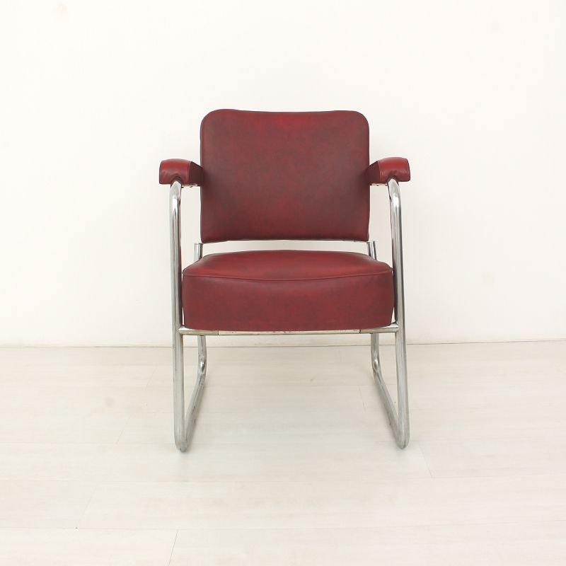 Vintage Leather Office Chair 1950s For Sale At Pamono