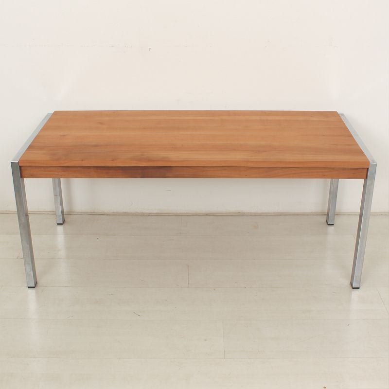 Vintage Cherry Wood Coffee Table 1970s For Sale At Pamono