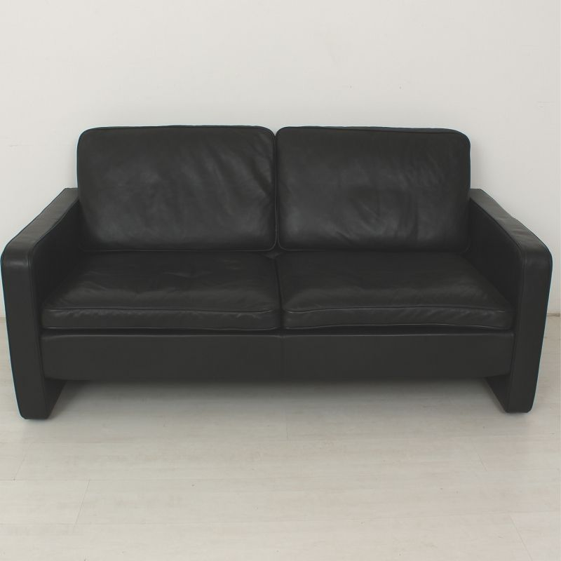 vintage two seater leather sofa from cor conseta for sale at pamono. Black Bedroom Furniture Sets. Home Design Ideas