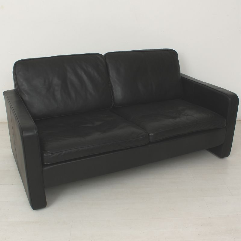 vintage zweisitzer echtleder sofa von cor conseta bei pamono kaufen. Black Bedroom Furniture Sets. Home Design Ideas