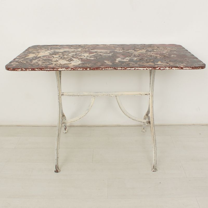 Vintage Metal Garden Table 1920s For Sale At Pamono