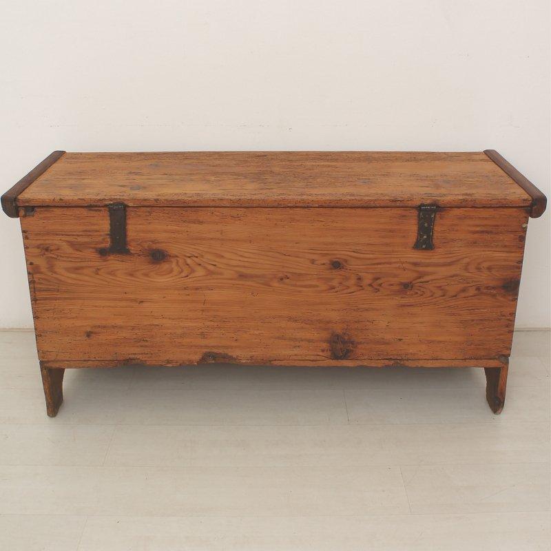 antike b uerliche holzkiste 1850er bei pamono kaufen. Black Bedroom Furniture Sets. Home Design Ideas