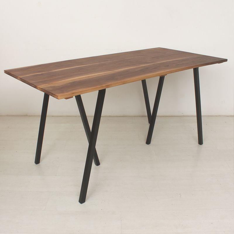 schreibtisch esstisch massiv nussbaum bei pamono kaufen. Black Bedroom Furniture Sets. Home Design Ideas