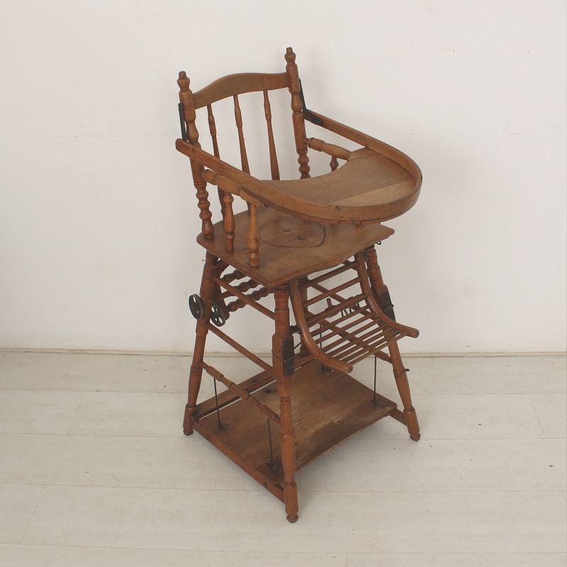 antiker kinderhochstuhl ca 1900 bei pamono kaufen. Black Bedroom Furniture Sets. Home Design Ideas