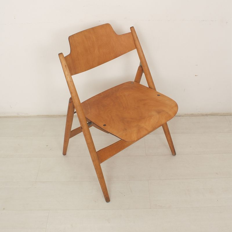 SE18 German Folding Chair Set of 2 for sale at Pamono