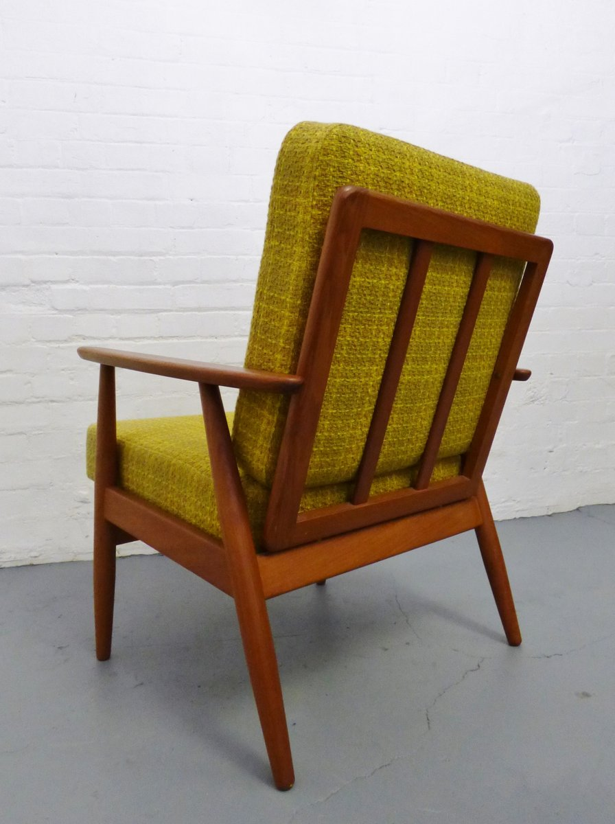 Mid Century Danish Teak Lounge Chair 1960s For Sale At Pamono