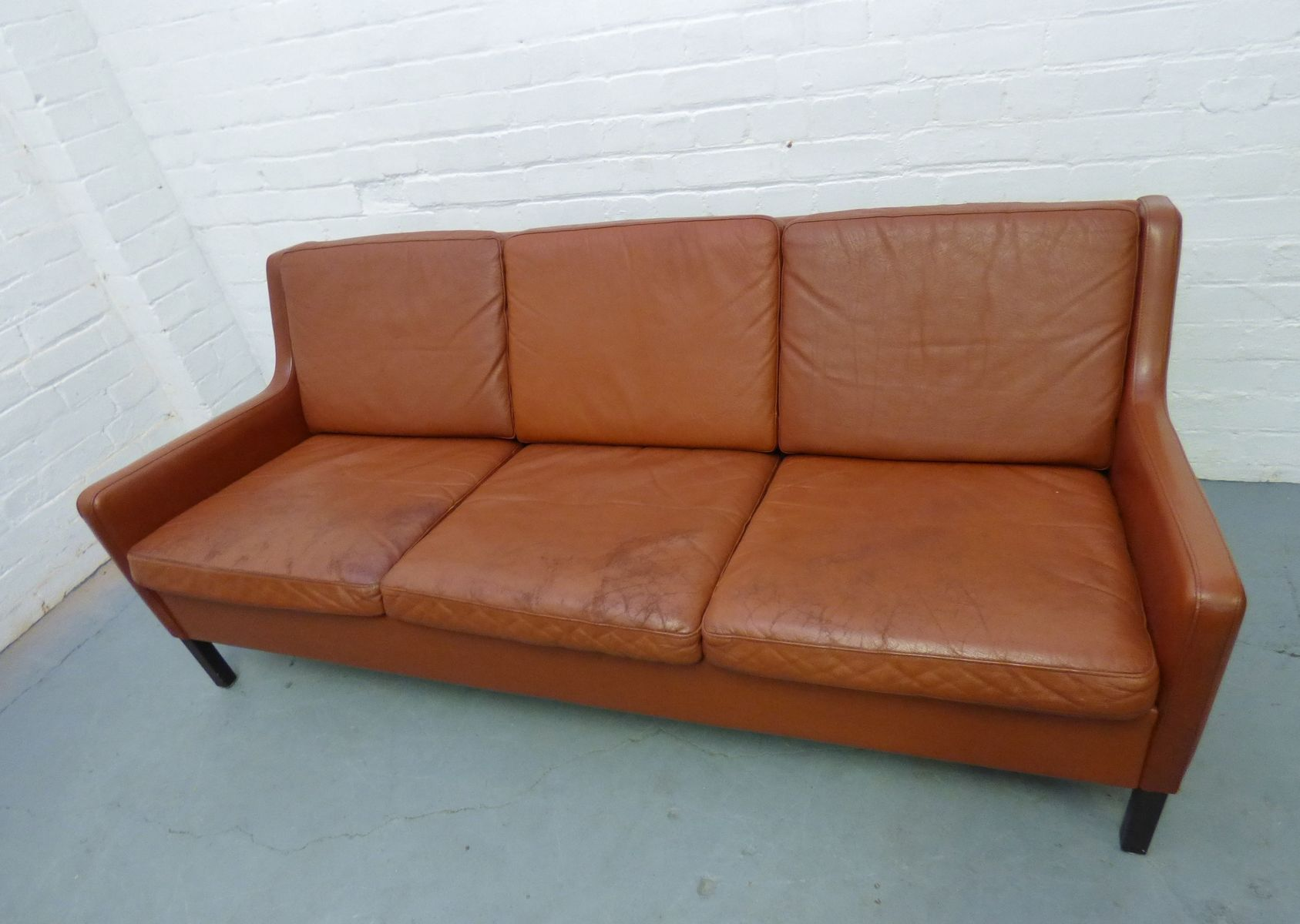 Mid Century Leather Sofa 1960s For Sale At Pamono