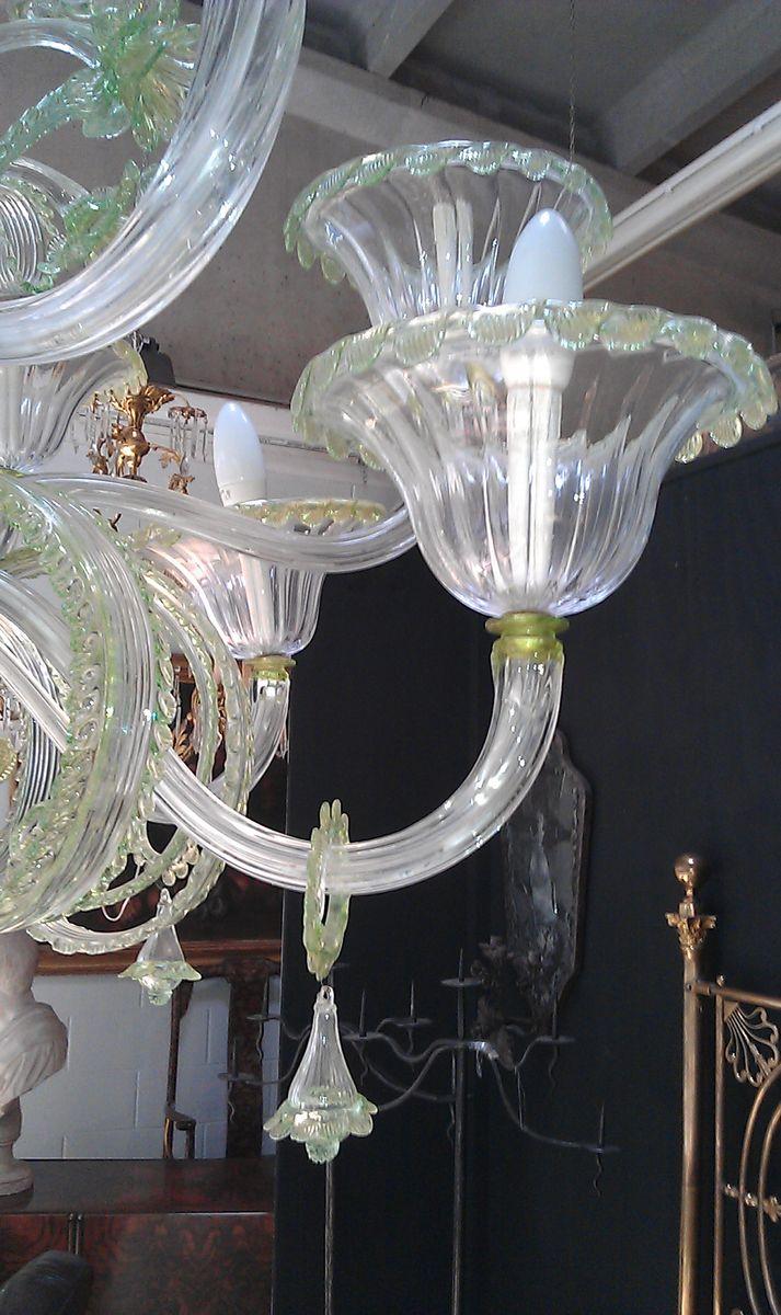 chandelier en verre murano de mazzega en vente sur pamono. Black Bedroom Furniture Sets. Home Design Ideas