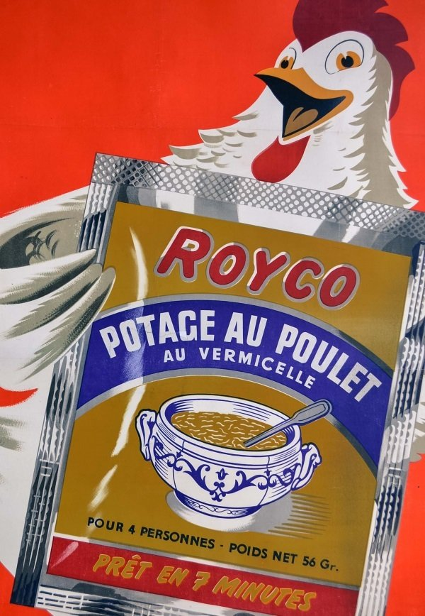affiche publicitaire vintage pour royco soup 1950s en vente sur pamono. Black Bedroom Furniture Sets. Home Design Ideas