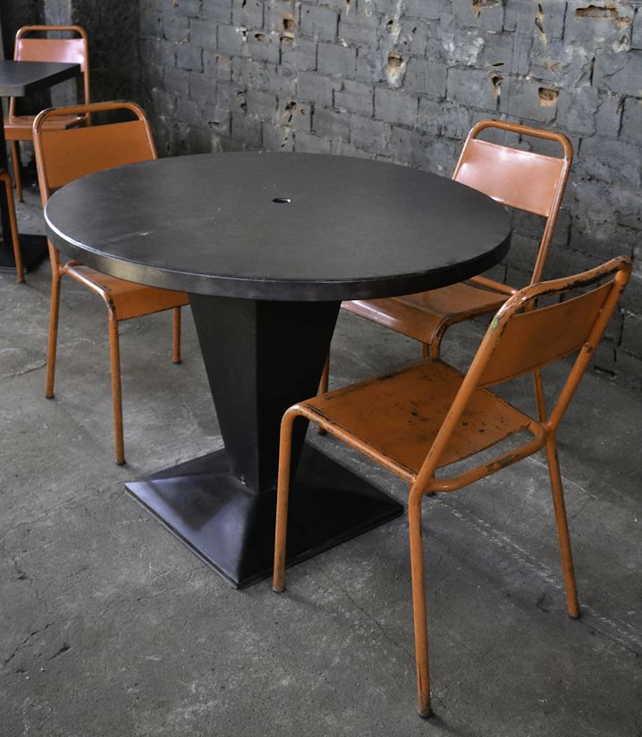 vintage kub table by xavier pauchard for tolix 1950s for sale at pamono. Black Bedroom Furniture Sets. Home Design Ideas
