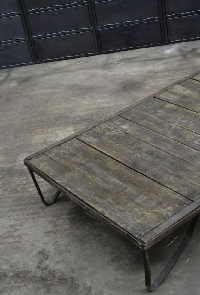 Vintage Industrial Coffee Table For Sale At Pamono