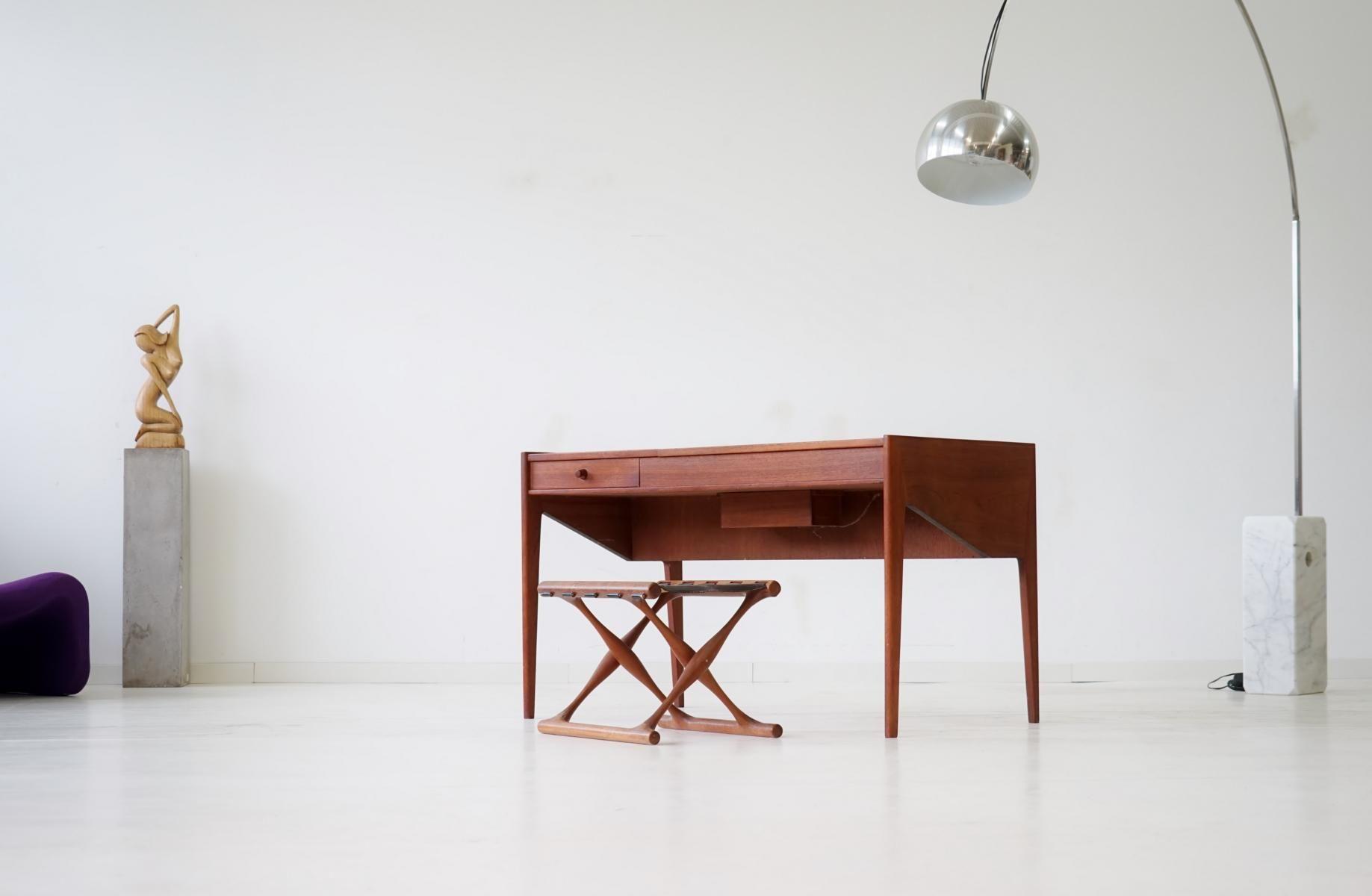 danish teak desk 1950s for sale at pamono. Black Bedroom Furniture Sets. Home Design Ideas