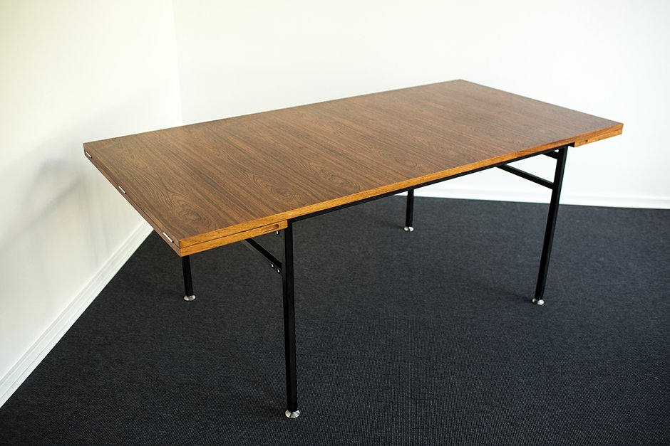 Dining table by alain richard for meubles tv 1950s for for Dining table tv