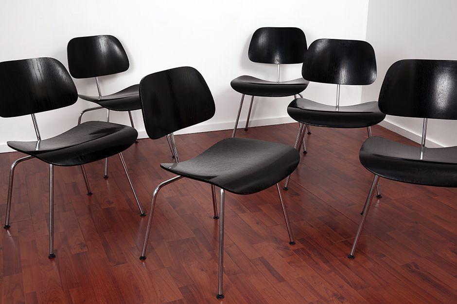 sperrholz st hle von charles ray eames f r vitra 1950er 6er set bei pamono kaufen. Black Bedroom Furniture Sets. Home Design Ideas