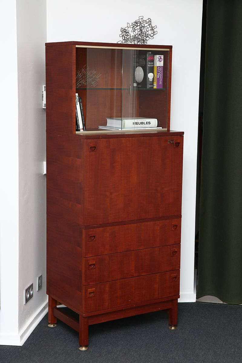 secretary cabinet by andr monpoix for meubles tv for sale at pamono. Black Bedroom Furniture Sets. Home Design Ideas