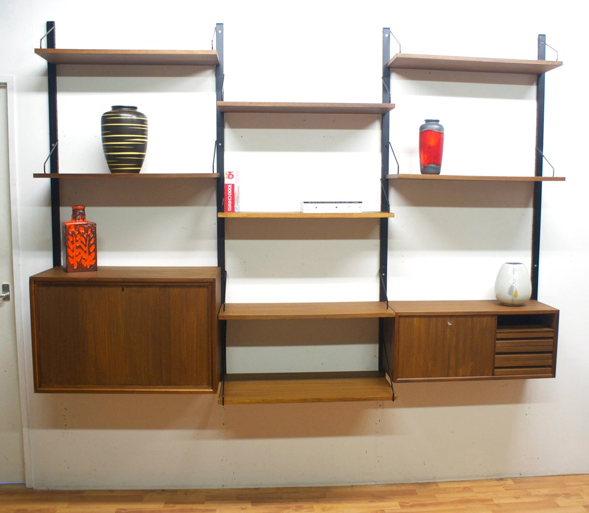 modular wall unit by poul cadovius for royal system 1970s