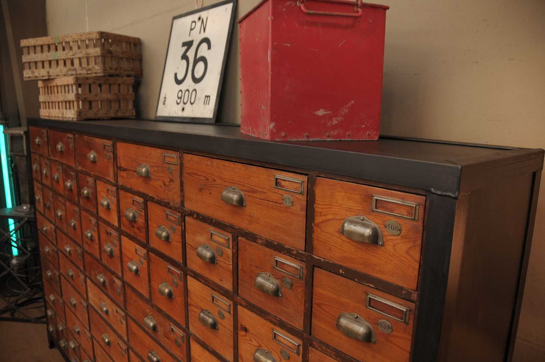 Big industrial cabinet with 74 drawers for sale at pamono for Kitchen drawers for sale