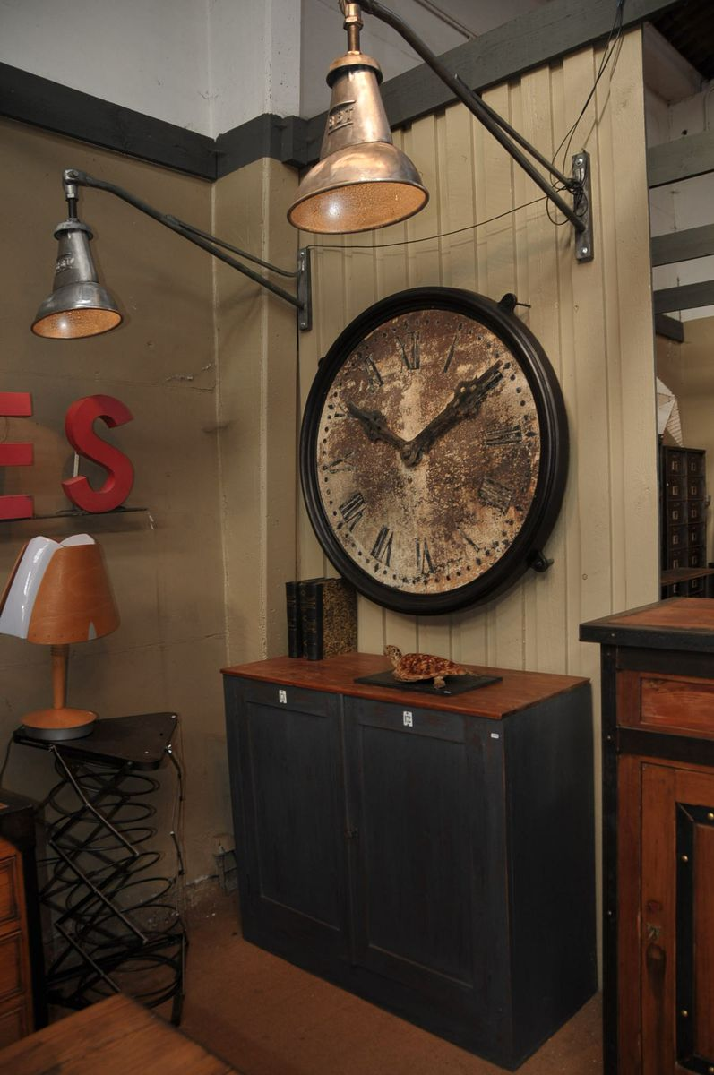 Antique Train Station Clock 1900s For Sale At Pamono