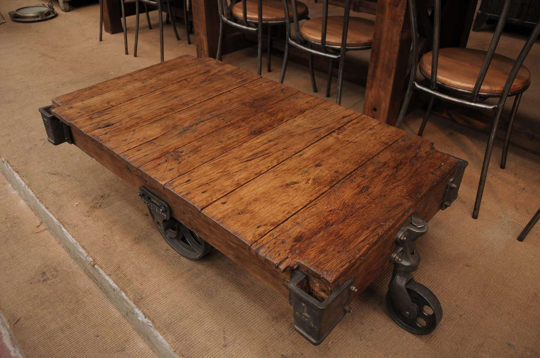 Industrial Factory Cart Coffee Table Industrial Factory Cart Coffee Table 1930s For Sale At Pamono