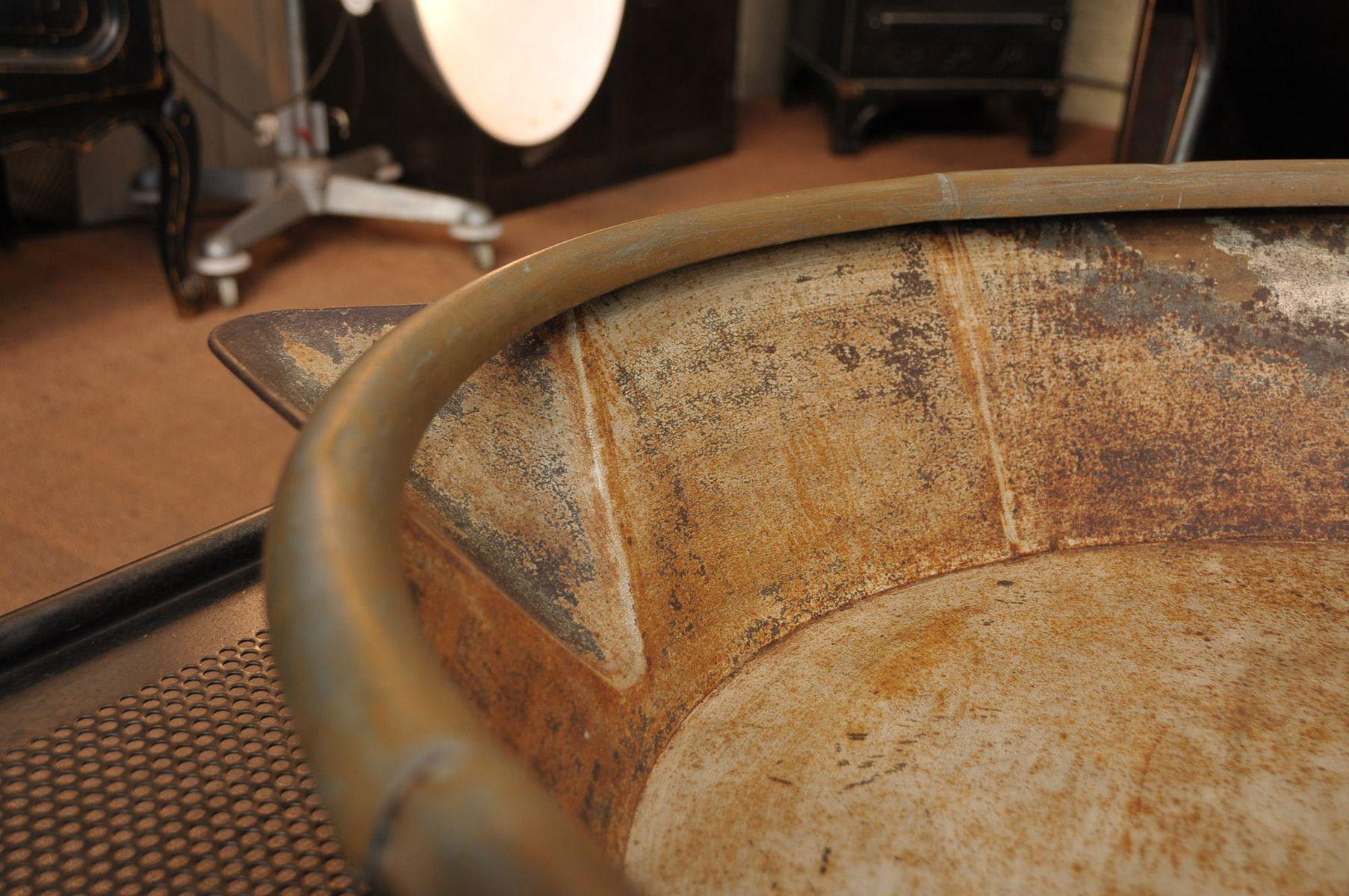 Vintage Waschbecken aus Zink, 1930er bei Pamono kaufen ~ Waschbecken Zink
