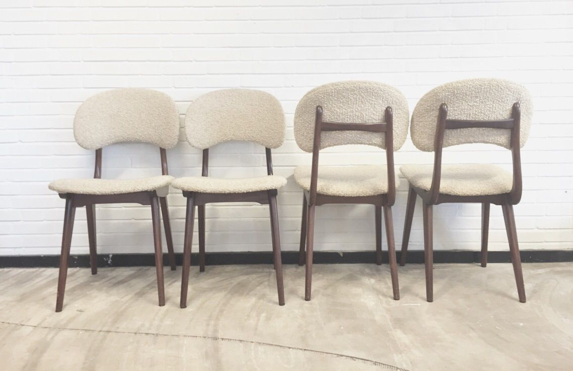 Vintage Dining Chairs By Louis Van Teeffelen For W B Set Of 4 For Sale At P