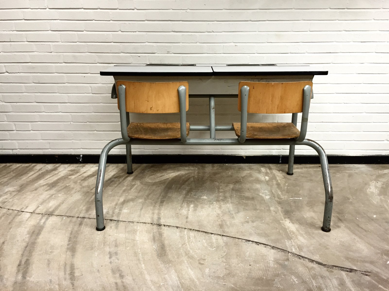 Vintage Industrial School Desk 1960s for sale at Pamono