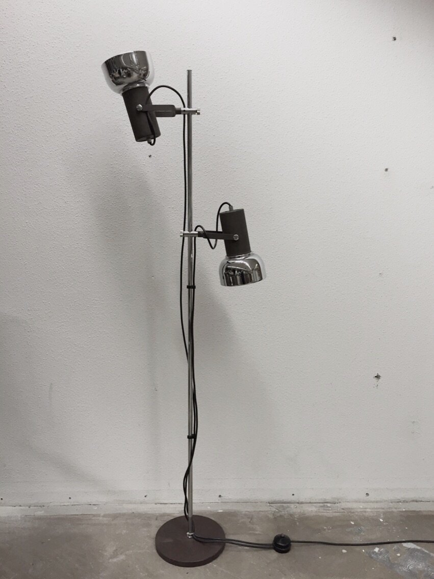 vintage industrial floorlamp 1960s. Black Bedroom Furniture Sets. Home Design Ideas