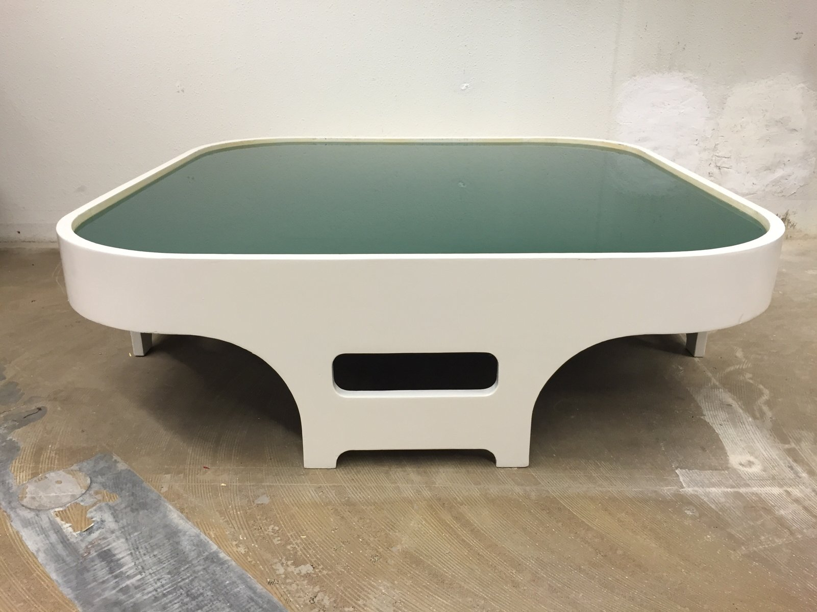Vintage white coffee table 1960s for sale at pamono