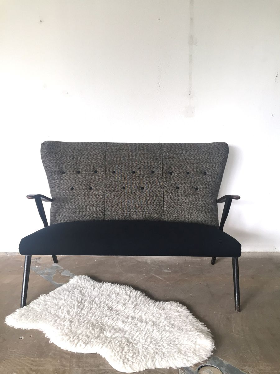 Vintage belgian grey fabric sofa for sale at pamono for Fabric couches for sale