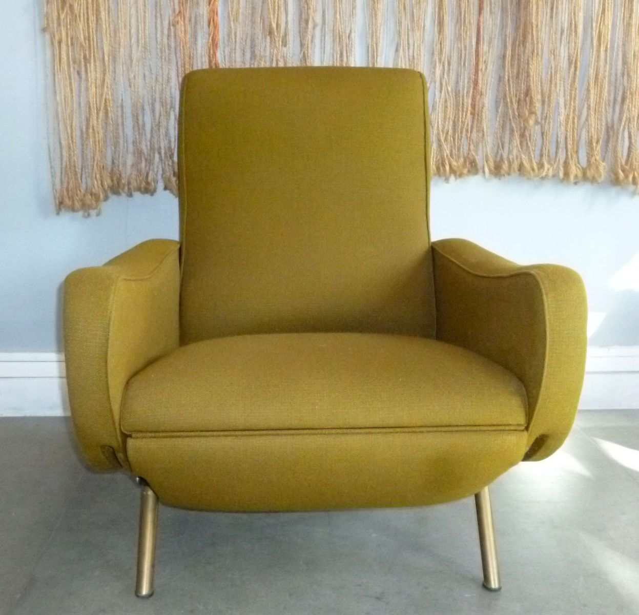 mid century lounge chair by marco zanuso 1950s for sale. Black Bedroom Furniture Sets. Home Design Ideas