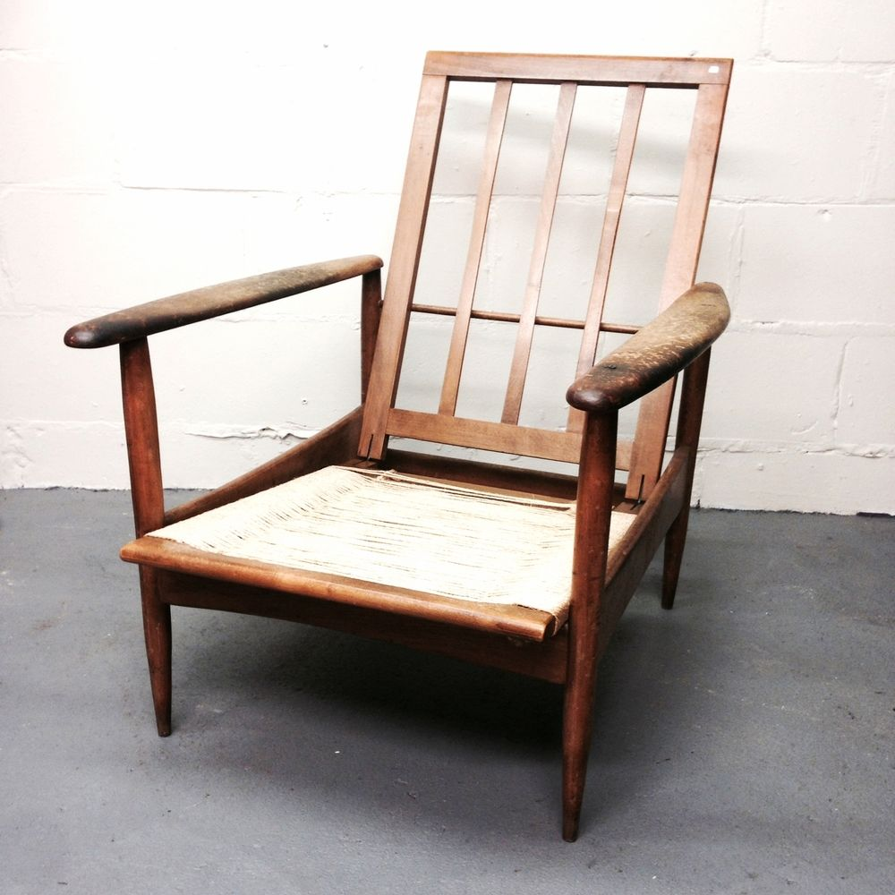 Vintage Wooden Armchair By Grete Jalk For Sale At Pamono