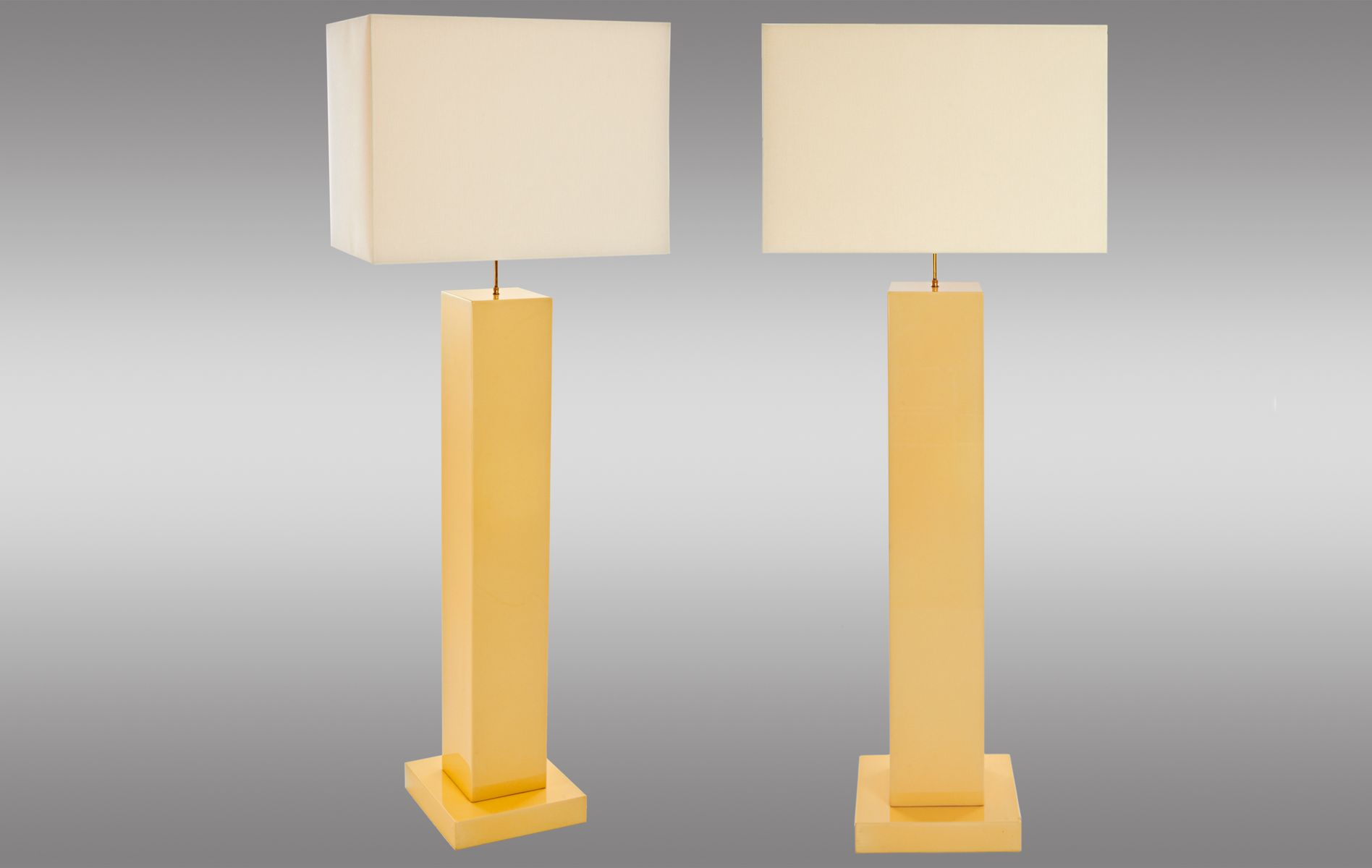 Lacquered wood floor lamps 1970s set of 2 for sale at pamono for 1970s floor lamps