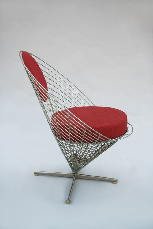 wire cone chair by verner panton for plus linje for sale at pamono. Black Bedroom Furniture Sets. Home Design Ideas