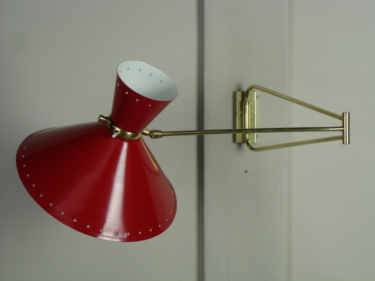 Articulated Wall Light from Lunel, 1950s for sale at Pamono