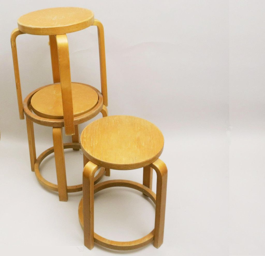 Superb img of Vintage Light Wood Stool for sale at Pamono with #B37F18 color and 1024x988 pixels