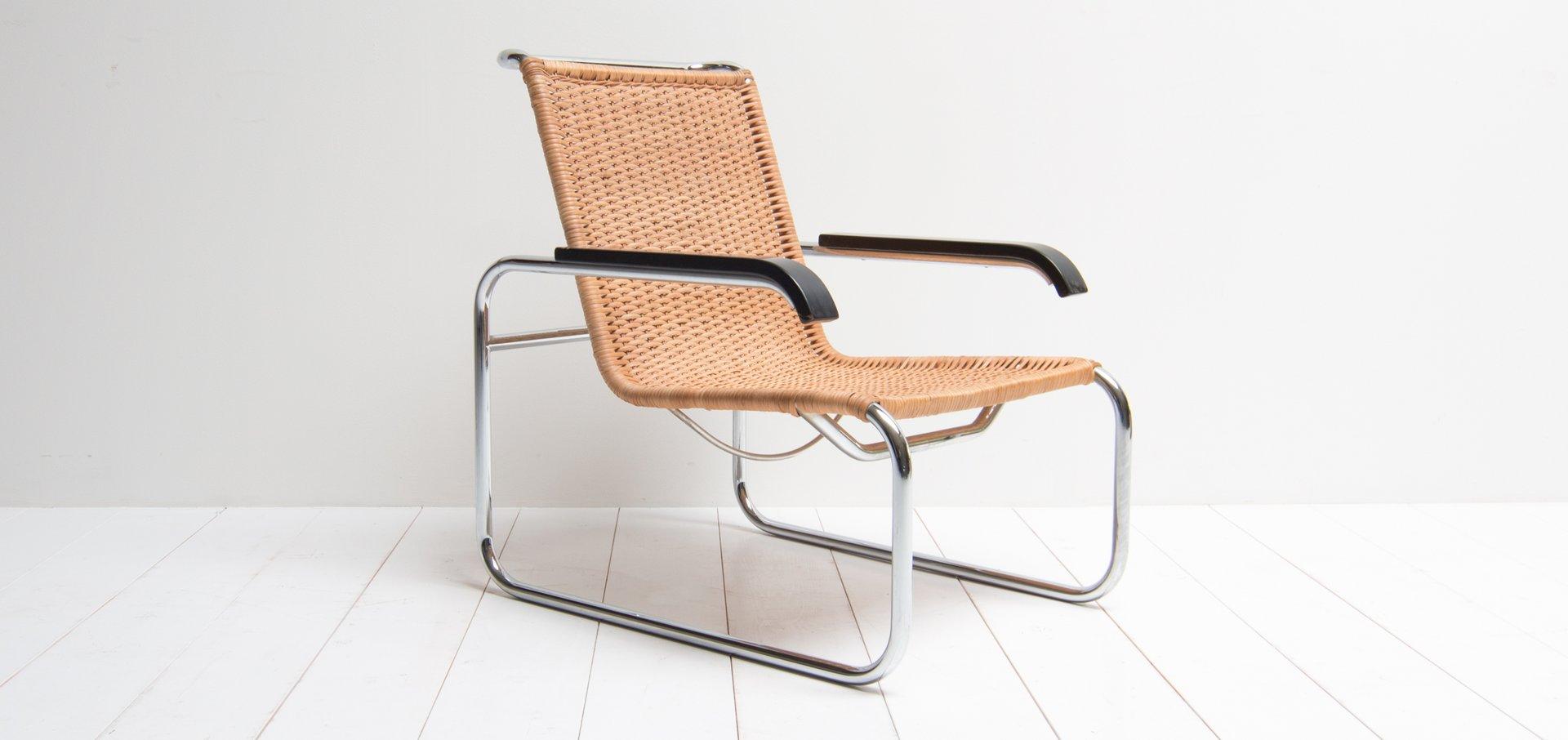 vintage modell b35 sessel von marcel breuer f r thonet bei pamono kaufen. Black Bedroom Furniture Sets. Home Design Ideas