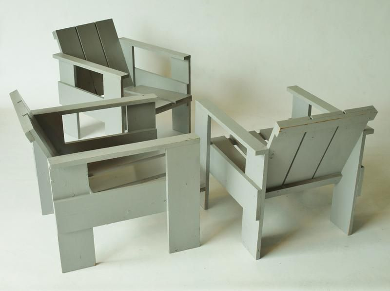 crate chair by gerrit rietveld for metz co for sale at pamono. Black Bedroom Furniture Sets. Home Design Ideas