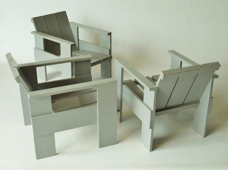 crate stuhl von gerrit rietveld f r metz co bei pamono. Black Bedroom Furniture Sets. Home Design Ideas