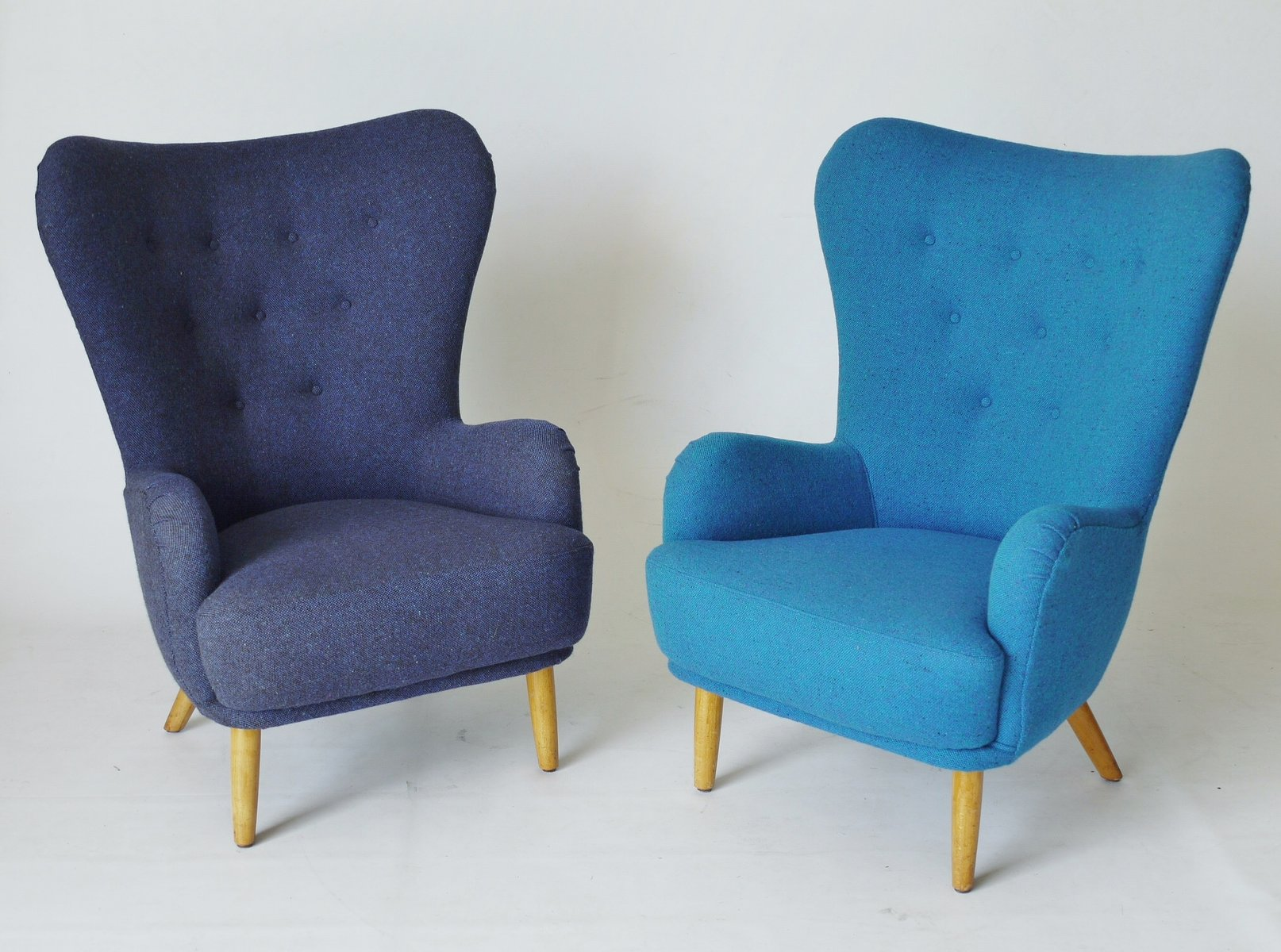 Nice Blue Da1 Armchair By Ernest Race For Furniture 1950s