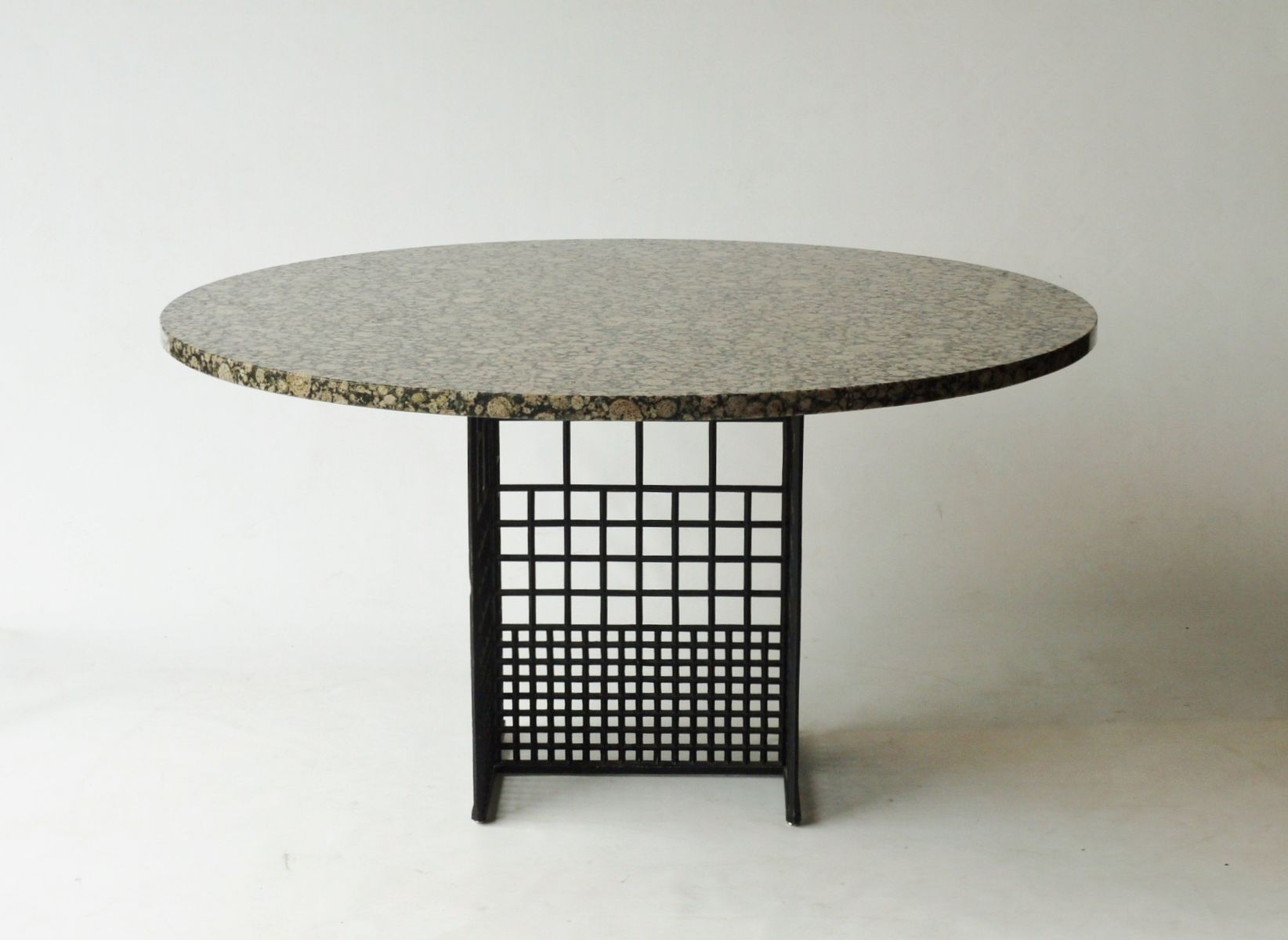Vintage Dining Table With Granite Top 1980s For Sale At Pamono