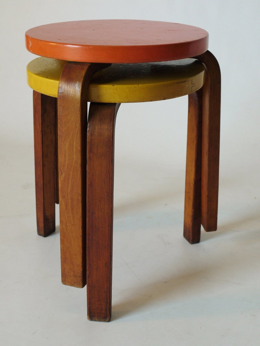 Model 60 Stools By Alvar Aalto For Finmar 1930s Set Of 2